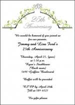 the most popular invitation cards for 25th wedding anniversary 92