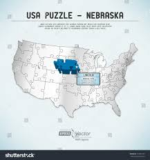 Map Puzzle Usa by Filemap Of Usa Nesvg Wikimedia Commons Nebraska Map Stock Vector