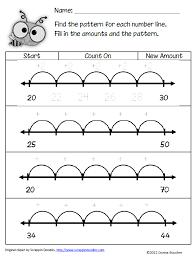 line pattern worksheet number line worksheet 2nd grade worksheets for all download and