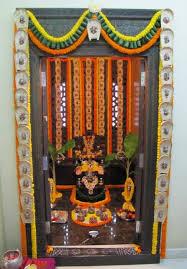 home mandir decoration pooja room decoration for ganpati indian festivals pinterest
