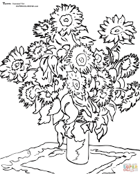 famous paintings coloring pages sunflower by claude monet