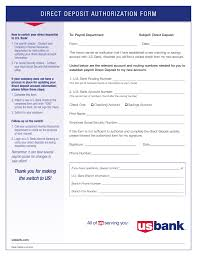 form payroll direct deposit authorization form