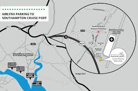 Southampton England Map by Airlynx Cruise Parking Southampton Cruise Parking Cruise