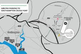 Southampton England Map by Airlynx Cruise Parking Southampton Cruise Parking Cruise