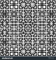 seamless chinese window tracery pattern trellis stock vector