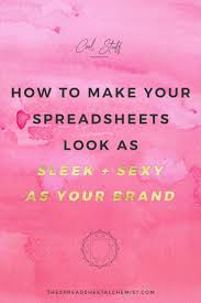 My Spreadsheet How To Make Your Excel Spreadsheets Look Sleek U0026 The