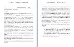 consultancy agreement template free agreement templates