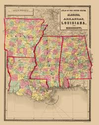 Sparta On Map Old Map Alabama Arkansas Louisiana Mississippi 1873