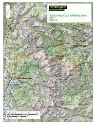 Rocky Mountain National Park Map Rocky Mountain National Park Traverse Late June U2013 Sept Crew My Run