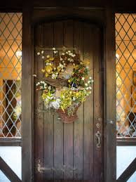 rustic farm and garden style front door decor hgtv