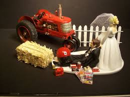 tractor wedding cake topper no farming international harvester tractor ih and groom