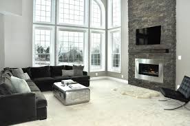 Fireplace Design Images by High Ceiling Living Room With Fireplace Centerfieldbar Com