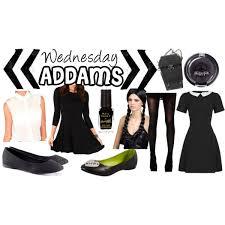 Wednesday Addams Halloween Costumes Wednesday Addams Halloween Cosplay Costume Polyvore