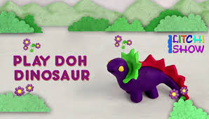 making of play doh dinosaur clay modeling for children easy