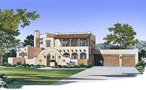 southwestern style house plans southwestern home with kiva fireplaces 81388w architectural
