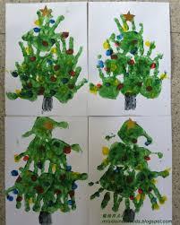 瑜玲育儿经 elaine teh finger paint christmas tree 美术 手指彩