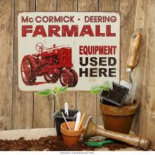 tractor signs vintage farm tractor signs of john deere case mccormick deering farmall red tractor tin sign