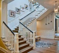 Dark Wood Banister Picture Frames On Staircase Staircase Traditional With White Stair