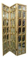 excellent 1960s 3 panel rattan u0026 mirror floor screen room divider