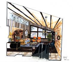 Interior Sketch by 2199 Best Sketches Renderings Models Images On Pinterest