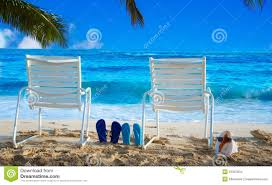 flip flop chairs chairs with flip flops by the stock photo image of