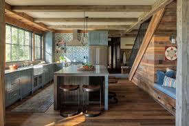 black kitchen cabinets in log cabin 40 rustic kitchen design ideas to