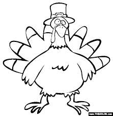 a turkey for thanksgiving coloring pages