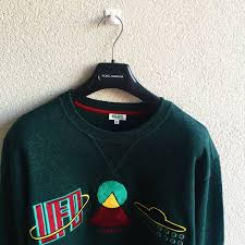 men u0027s kenzo u0027ufo u0027 sweatshirt dark green size xl brand new
