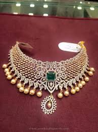 stone choker necklace images 90 grams gold cz stone choker pinterest choker stone and gold jpg