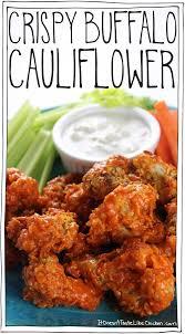 crispy buffalo cauliflower u2022 it doesn u0027t taste like chicken