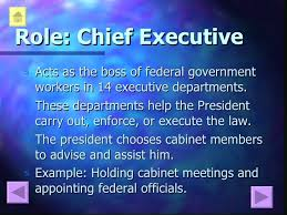 Role Of Cabinet Members Presidential Roles