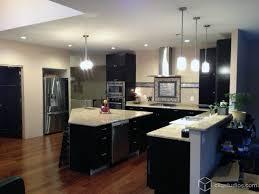 Black Kitchen Cabinets Contemporary Kitchens With Dark Cabinets Excellent 2 Modern Black