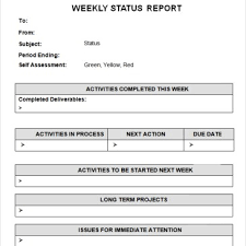 report template monthly project status report template excel