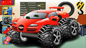 monster truck video for kids bambini video educational big for kids bazylland animacje youtube