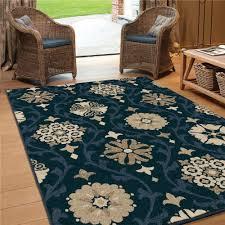 Blue Area Rugs 5x8 by Rug128047 Jaipur Indoor Outdoor Floral U0026 Leaves Pattern Blue