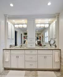 Bathroom Counter Organizers White Bathroom Counter Storage Tower Ideas With Center Storage