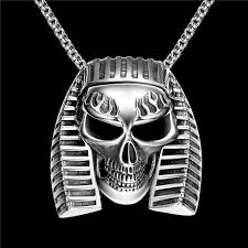 fashion skull necklace images 316l stainless steel ancient egyptian pharaoh skull pendant jpg