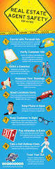 top 10 real estate agent safety tips infographic