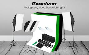 Photography Lighting Kit Amazon Com Excelvan Photography Studio Lighting Kit 1250w