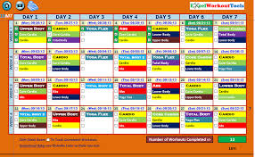 Workout Excel Spreadsheet Excel Workout Tool For 10 Minute Trainer