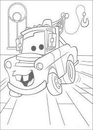 kleurplaat cars pixar takel rechtzaal feest