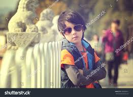 Cool Stock by Cool Boy Model Outdoor Fashion Shoot Stock Photo 160885631