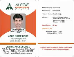 sample of id card template best samples templates