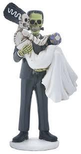 skeleton wedding cake toppers frankenstein figurine skeleton wedding cake