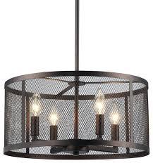 Industrial Light Fixtures Metal Cage Ceiling Light Fixtures Rustic Pendant Hand Crafted Drum
