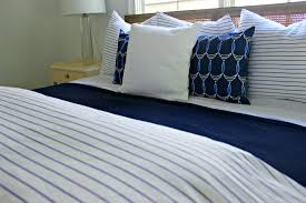 White Bed Sheets Twitter Header Blue And White Master Bedroom With Stripes And Nautical Accents