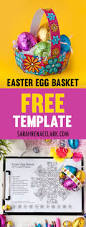 how to make an easter egg basket free template sarah renae