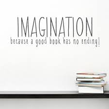 because a good book has no ending wall quote decal imagination because a good book has no ending wall quote decal