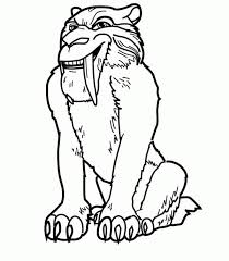 saber tooth tiger pictures color free coloring pages art