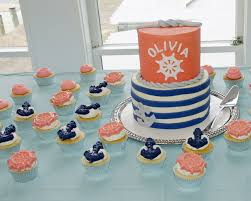 coral baby shower nautical navy coral baby shower cake cakecentral